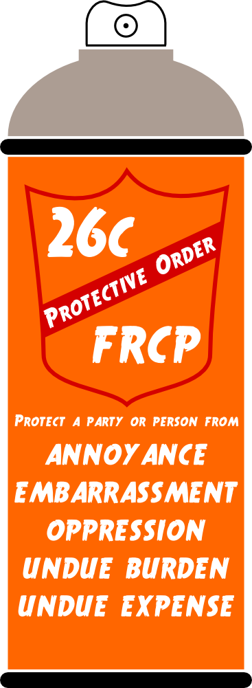 (c) Protective Orders.  (1) In General. A party or any person from whom discovery is sought may move for a protective order in the court where the action is pending—or as an alternative on matters relating to a deposition, in the court for the district where the deposition will be taken. The motion must include a certification that the movant has in good faith conferred or attempted to confer with other affected parties in an effort to resolve the dispute without court action. The court may, for good cause, issue an order to protect a party or person from annoyance, embarrassment, oppression, or undue burden or expense, including one or more of the following:  (A) forbidding the disclosure or discovery;  (B) specifying terms, including time and place, for the disclosure or discovery;  (C) prescribing a discovery method other than the one selected by the party seeking discovery;  (D) forbidding inquiry into certain matters, or limiting the scope of disclosure or discovery to certain matters;  (E) designating the persons who may be present while the discovery is conducted;  (F) requiring that a deposition be sealed and opened only on court order;  (G) requiring that a trade secret or other confidential research, development, or commercial information not be revealed or be revealed only in a specified way; and  (H) requiring that the parties simultaneously file specified documents or information in sealed envelopes, to be opened as the court directs.  (2) Ordering Discovery. If a motion for a protective order is wholly or partly denied, the court may, on just terms, order that any party or person provide or permit discovery.  (3) Awarding Expenses. Rule 37(a)(5) applies to the award of expenses.